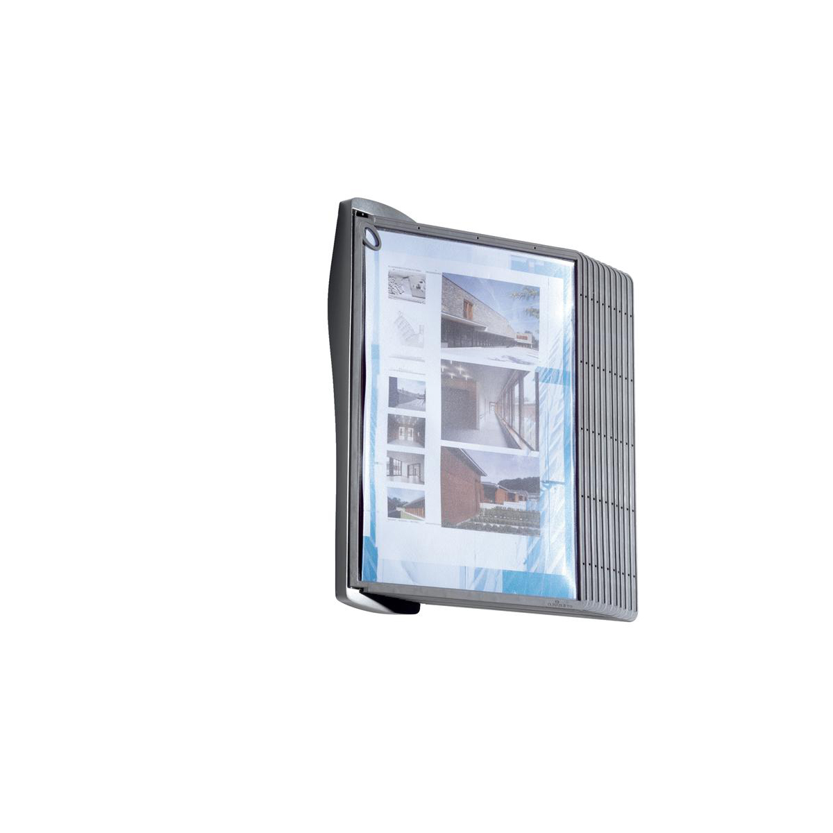 Durable Sherpa Style Display System Wall Unit Contoured with Fixings and 10 Panels A4 Ref 585401