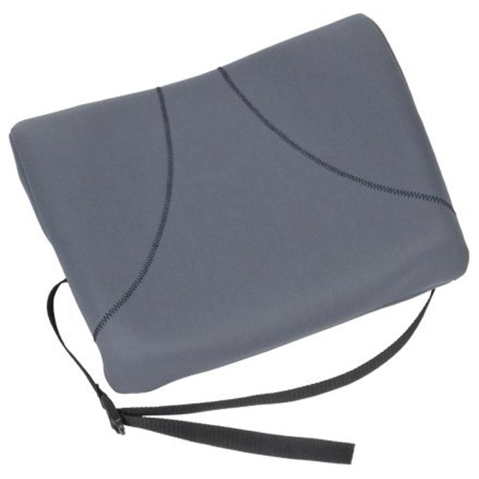 Back support rests Fellowes Slimline Back Support Soft-touch Fabric with Adjustable Strap Graphite Ref 9190901