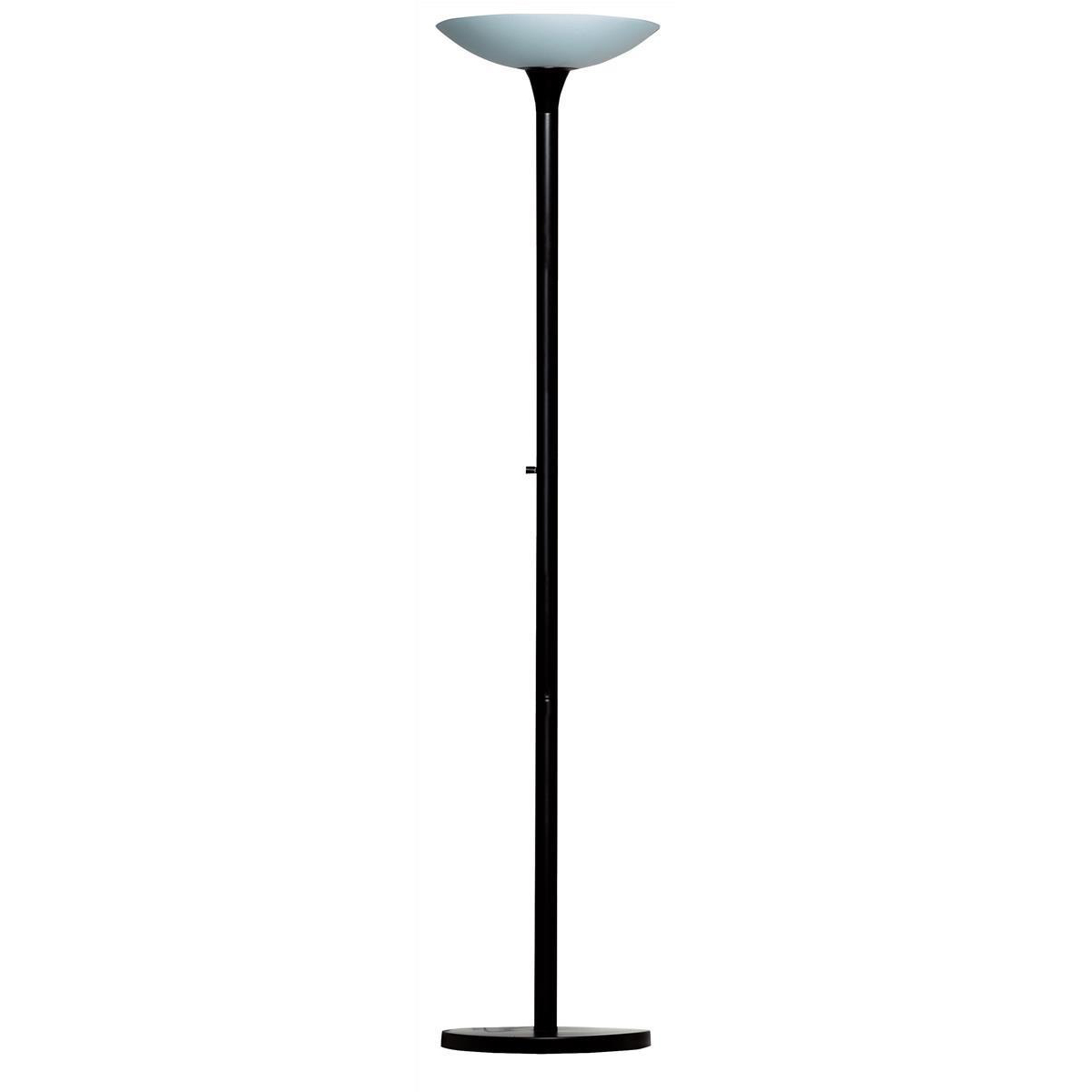 Unilux Variaglass Frosted Glass Uplighter 22W Height of 1800mm Base of 340mm Black/Glass Ref 400101463