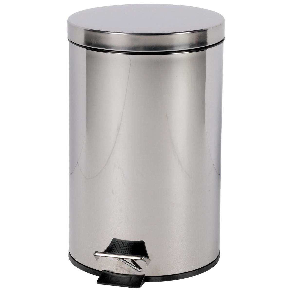 Rubbish Bins Pedal Bin with Removable Plastic Liner 12 Litre Stainless Steel
