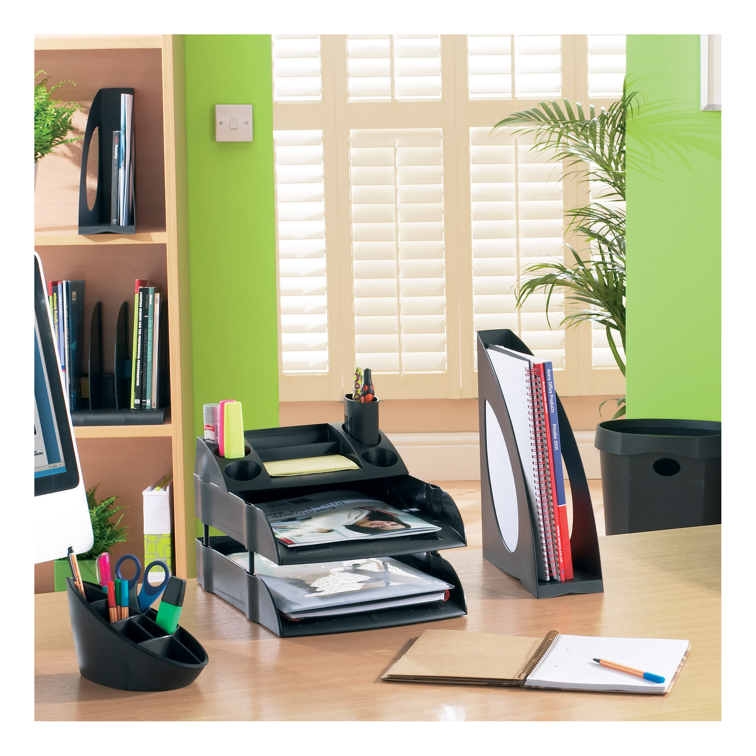 Avery DTR Book Rack 4 Base Sections 5 Dividers W372xD275xH260mm Black Ref DR300BLK