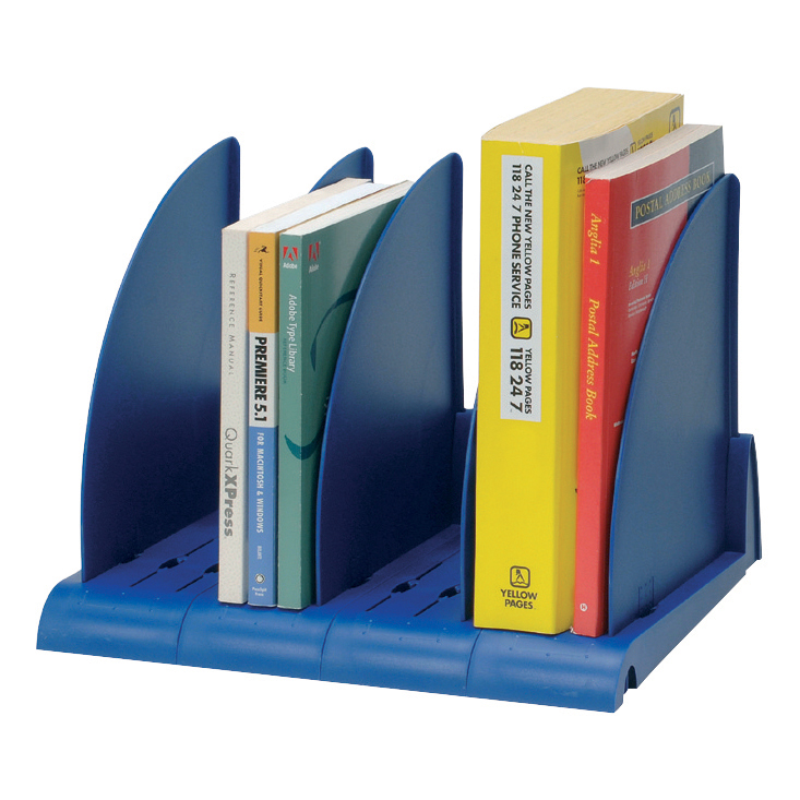 Avery DTR Book Rack 4 Base Sections 5 Dividers W372xD275xH260mm Blue Ref DR300BLU