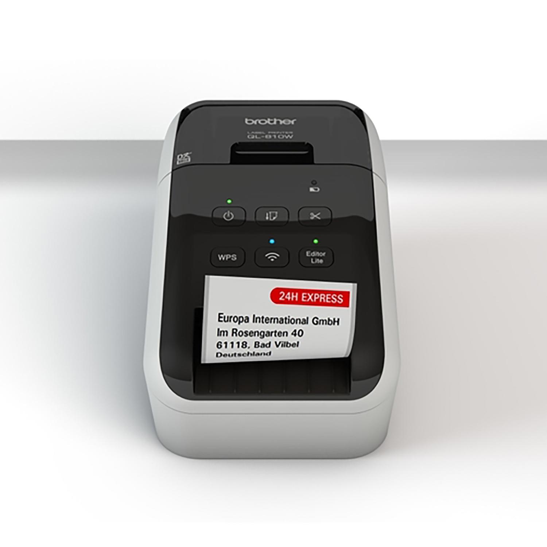 Brother Professional Label Printer Wireless 62mm Width Labels 176mm per Second Ref QL810W