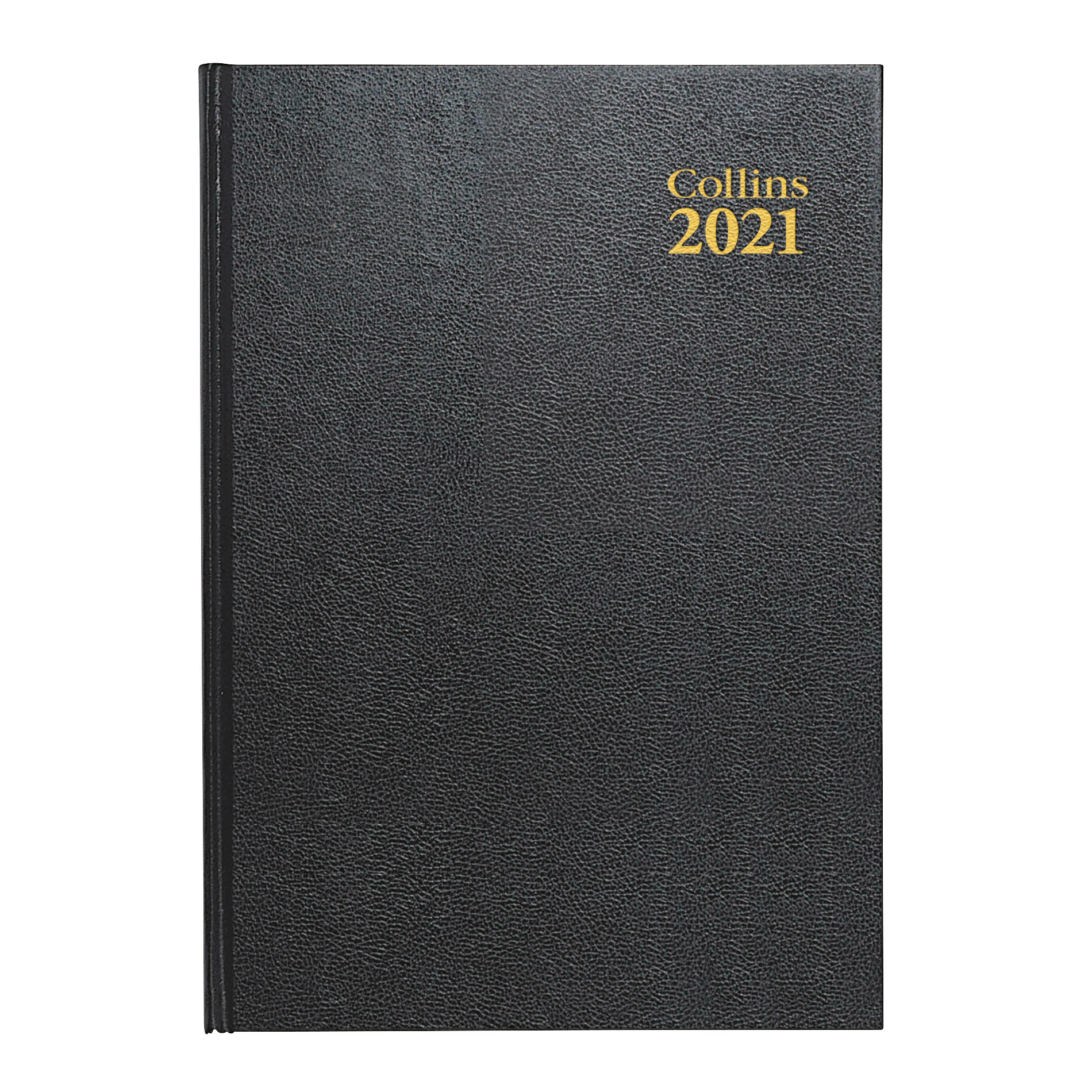 Collins 2021 Desk Diary Day to Page Sewn Binding A4 297x210mm Black Ref 44E 2021