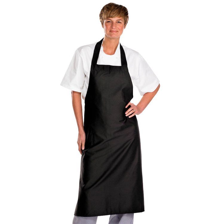 Click Workwear Chefs Bib Apron Black 32x40in Ref CCCBABL34X40 Up to 3 Day Leadtime