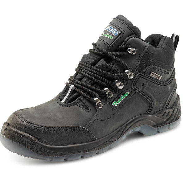 Click Traders S3 Hiker Boot PU/Leather TPU Size 7 Black Ref CTF30BL07 Up to 3 Day Leadtime