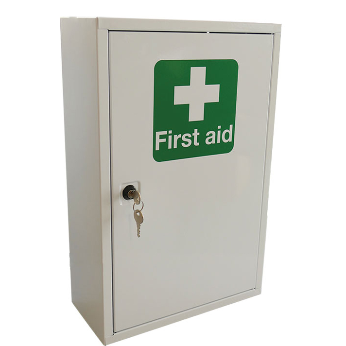 Equipment Click Medical Single Door Metal First Aid Cabinet 460x300x140mm White Ref CM1120 *Up to 3 Day Leadtime*