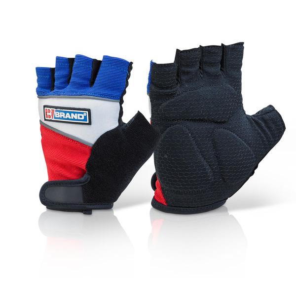 B-Brand Fingerless Gel Grip Gloves L Ref FGG01L Up to 3 Day Leadtime