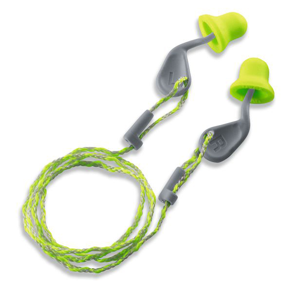 Ear plugs Uvex Xact-Fit Corded Ear Plug SNR 26dB Green/Grey Ref 2124-001 Pack 50 *Up to 3 Day Leadtime*