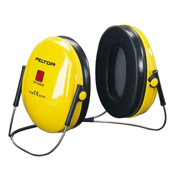 Peltor Optime 1 Ear Defenders Neckband Behind Head Yellow Ref H510B Up to 3 Day Leadtime