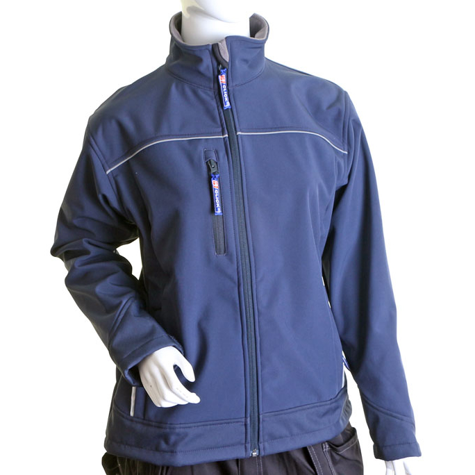 Click Workwear Ladies Soft Shell Water Resistant Jacket Small Navy Ref LSSJNS Up to 3 Day Leadtime