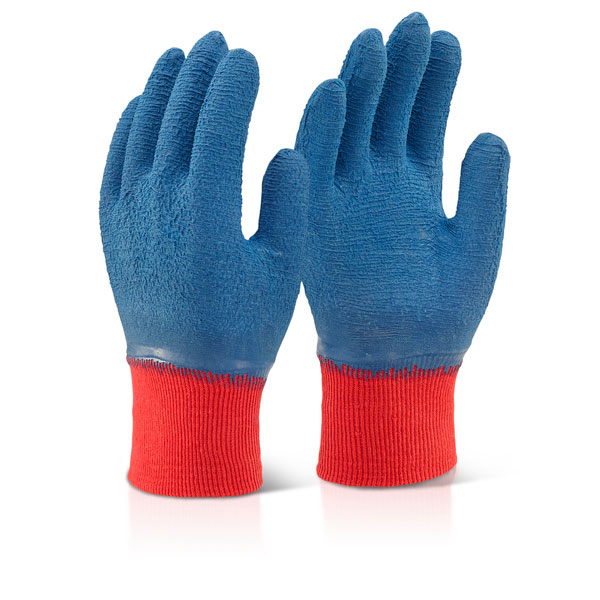 Click2000 Latex Fully Coated Gripper Glove Blue L Ref LFCGGBL [Pack 100] *Up to 3 Day Leadtime*
