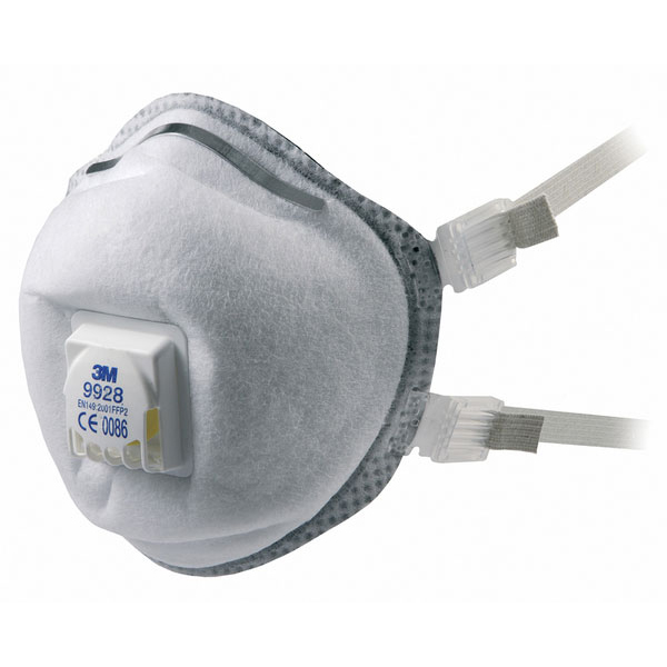 3M Premium Welding Fume Respirator FFP2 White Ref 9928 [Pack 10] Up to 3 Day Leadtime