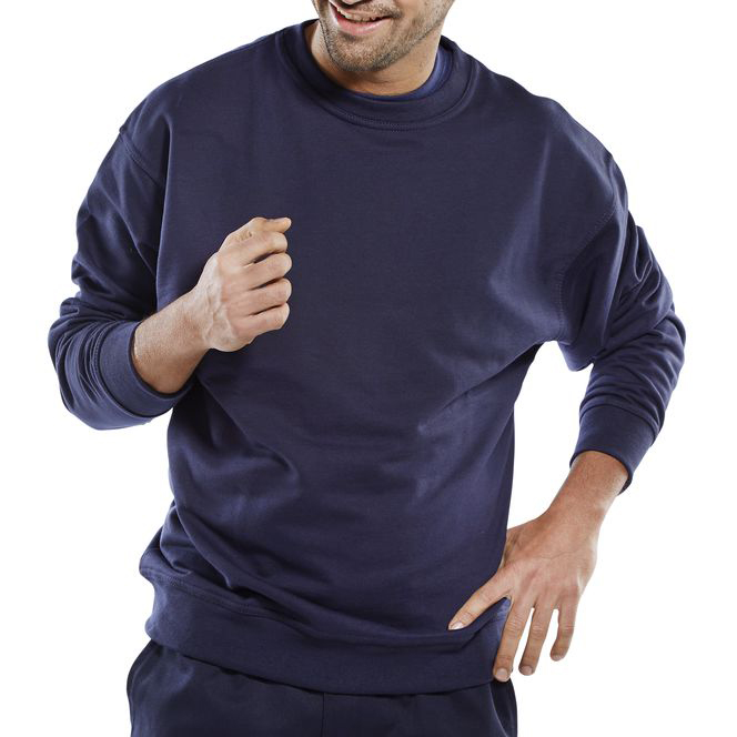 Click Premium Sweatshirt 365gsm S Navy Blue Ref CPPCSNS Up to 3 Day Leadtime