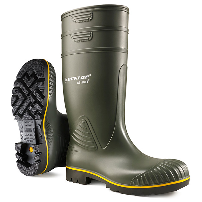 Dunlop Acifort Wellington Boots Heavy Duty Size 10 Green Ref B44063110 Up to 3 Day Leadtime
