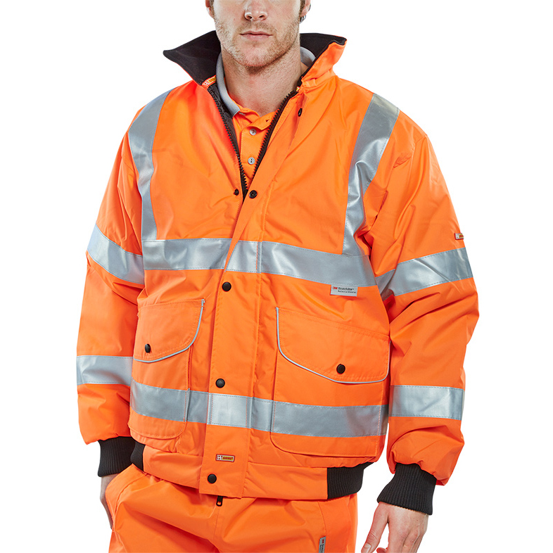 B-Seen Hi-Vis Super Bomber Jacket Small Orange Ref BD71ORS *Up to 3 Day Leadtime*