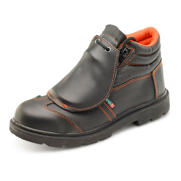 Click Footwear Metatarsal Boot S3 PU/Rubber/Leather Size 6 Black Ref CF5BL06 Up to 3 Day Leadtime