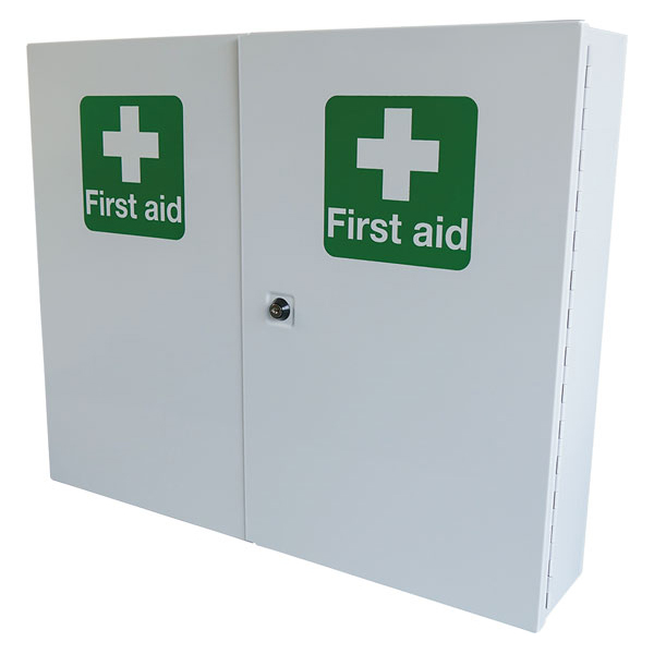 Equipment Click Medical Double Door Metal First Aid Cabinet Lockable White Ref CM1121 *Up to 3 Day Leadtime*
