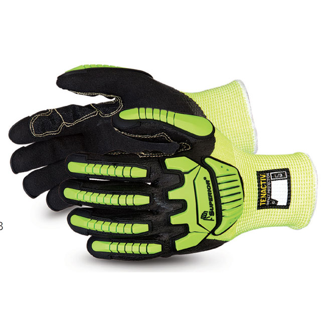 Superior Glove Tenactiv Cut-Resistant Anti-Impact Hi-Vis 10 Yellow SUSHVPNFBVB10 Up to 3 Day Leadtime