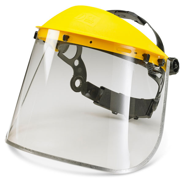 B-Brand Metal Edge Face Visor Universal 8in Clear/Yellow Ref BBMEFV8 Up to 3 Day Leadtime