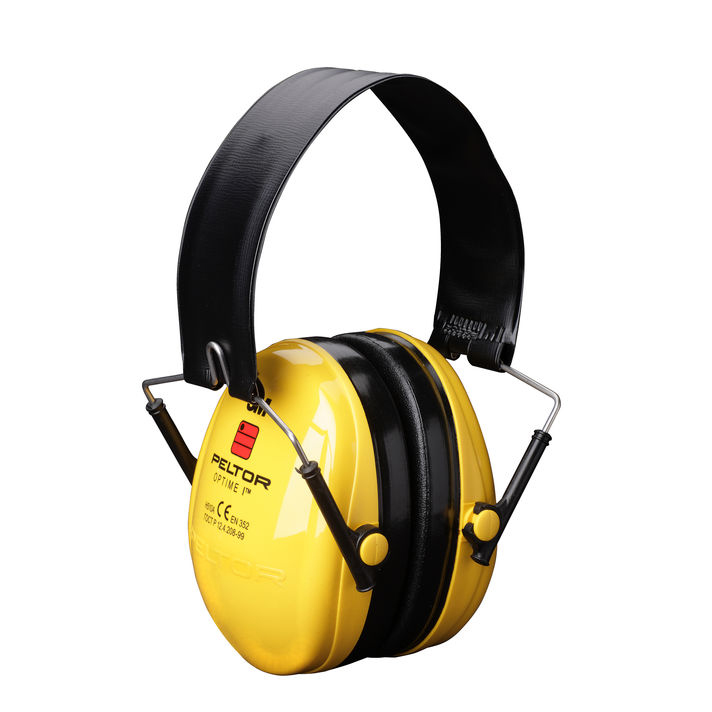Peltor Optime1 Ear Defenders Folding Headband Yellow Ref H510F-404-GU *Up to 3 Day Leadtime*