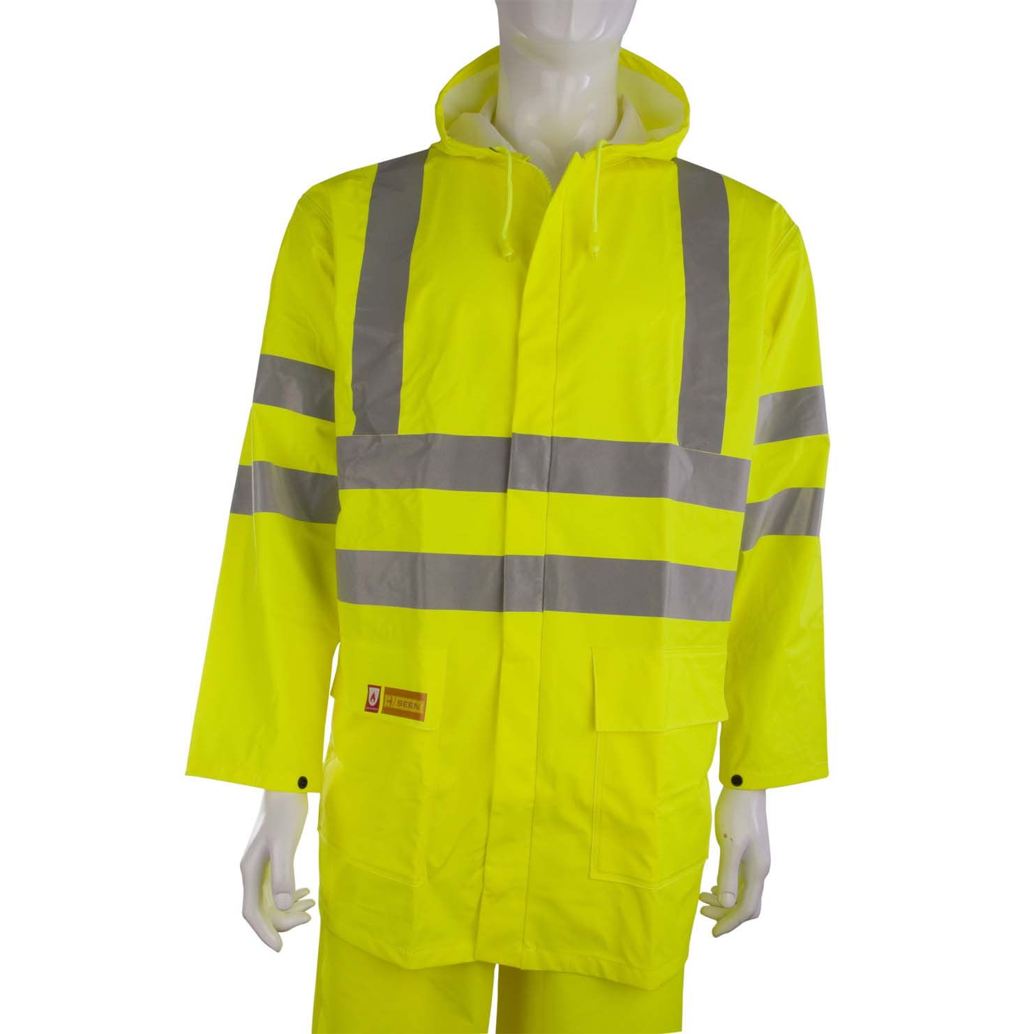 B-Seen Fire Retardant Jacket Anti-static 2XL Sat Yellow Ref CFRLR55SYXXL *Up to 3 Day Leadtime*