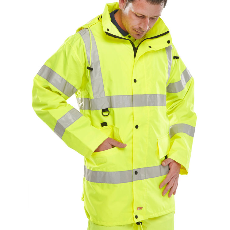 B-Seen High Visibility Jubilee Jacket Large Saturn Yellow Ref JJSYL *Up to 3 Day Leadtime*