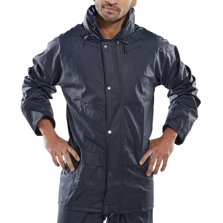 B-Dri Weatherproof Super B-Dri Jacket with Hood Small Navy Blue Ref SBDJNS *Up to 3 Day Leadtime*