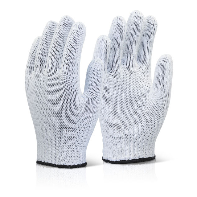 Click2000 Mixed Fibre Gloves Light Weight White Ref MFGLW [Pack 240] Up to 3 Day Leadtime