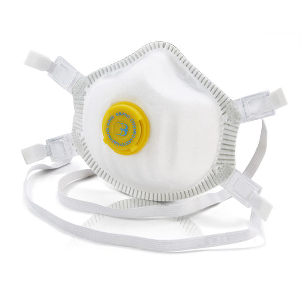 B-Brand P3 Premium Vented Mask Soft Foam Nose Seal White Ref BBP3VD [Pack 5] Up to 3 Day Leadtime