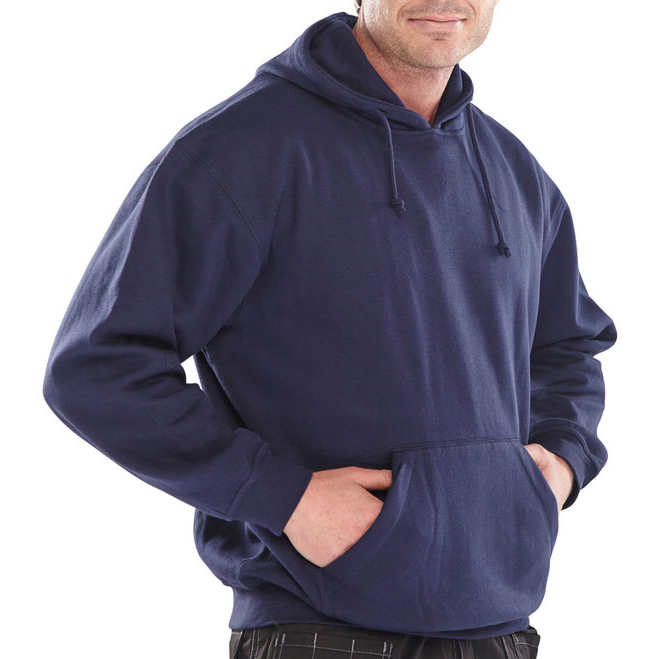 Click Workwear Sweatshirt Hooded Polycotton 300gsm L Navy Blue Ref CLPCSHNL *Up to 3 Day Leadtime*