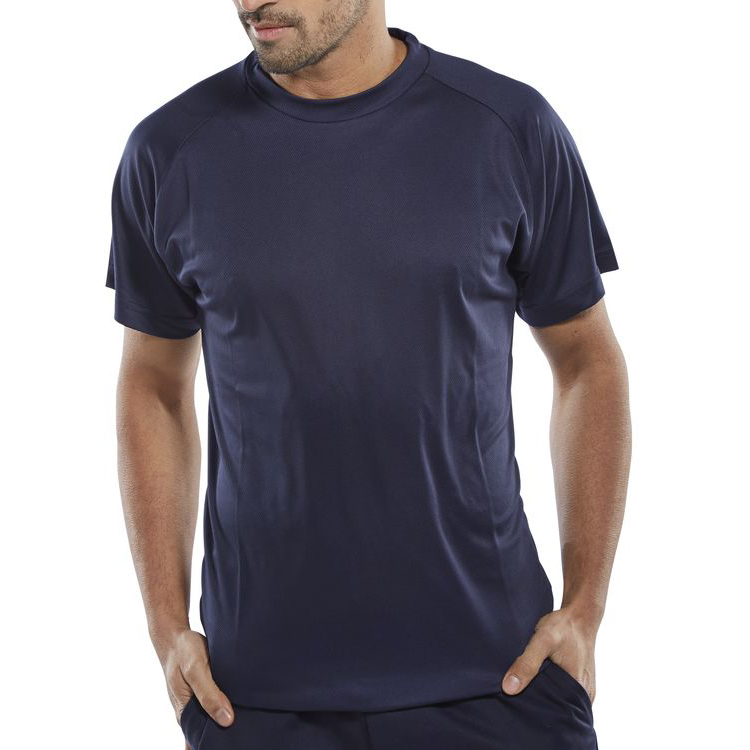 B-Cool T-Shirt Lightweight L Navy Blue Ref BCTSNL *Up to 3 Day Leadtime*