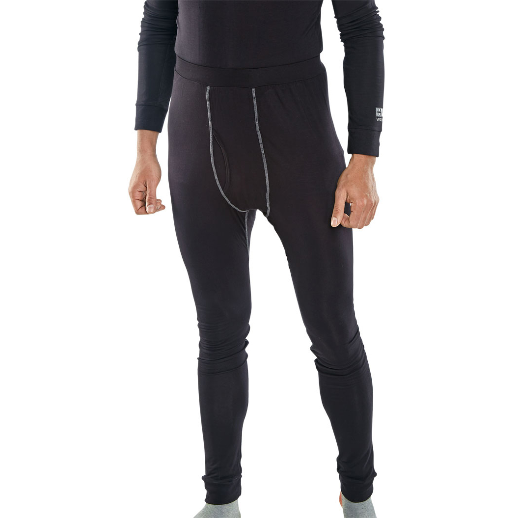 Body Protection Click Workwear Base Layer Long John L Black Ref BLLJL *Up to 3 Day Leadtime*