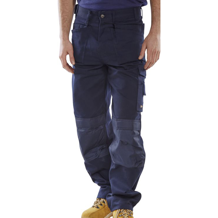Click Premium Trousers Multipurpose Holster Pockets Size 34 Navy Blue Ref CPMPTN34 *Up to 3 Day Leadtime*