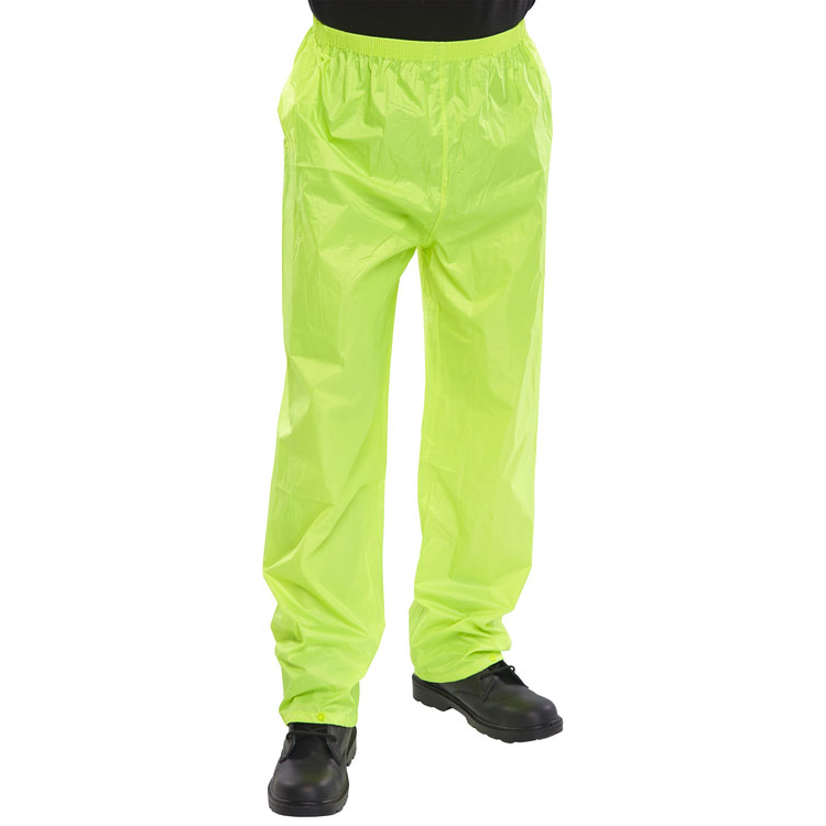 B-Dri Weatherproof Trousers Nylon Lightweight 2XL Saturn Yellow Ref NBDTSYXXL *Up to 3 Day Leadtime*