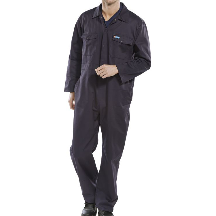 Click Workwear Boilersuit Size 46 Navy Blue Ref PCBSN46 Up to 3 Day Leadtime