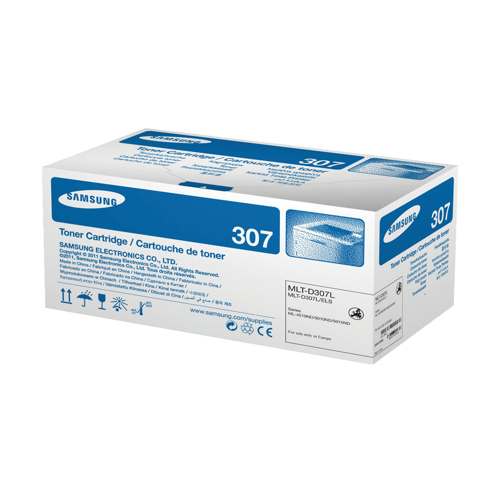 Samsung MLT-D307L Laser Toner Cartridge High Yield Page Life 15,000pp Black Ref SV066A