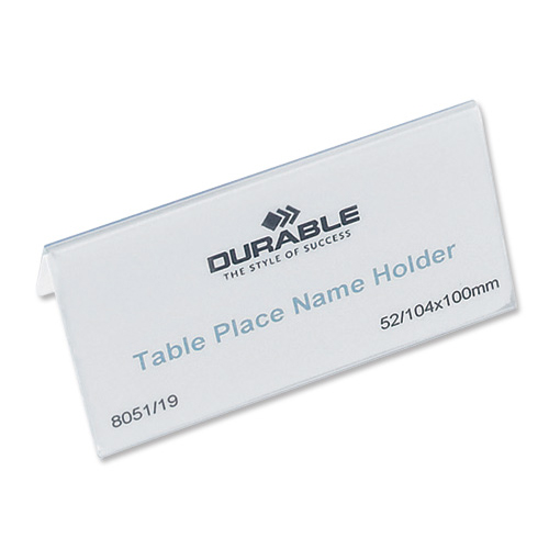 Durable Inserts for Duraprint Table Place Name Holder 52x100mm Ref 1458 [Pack 40]