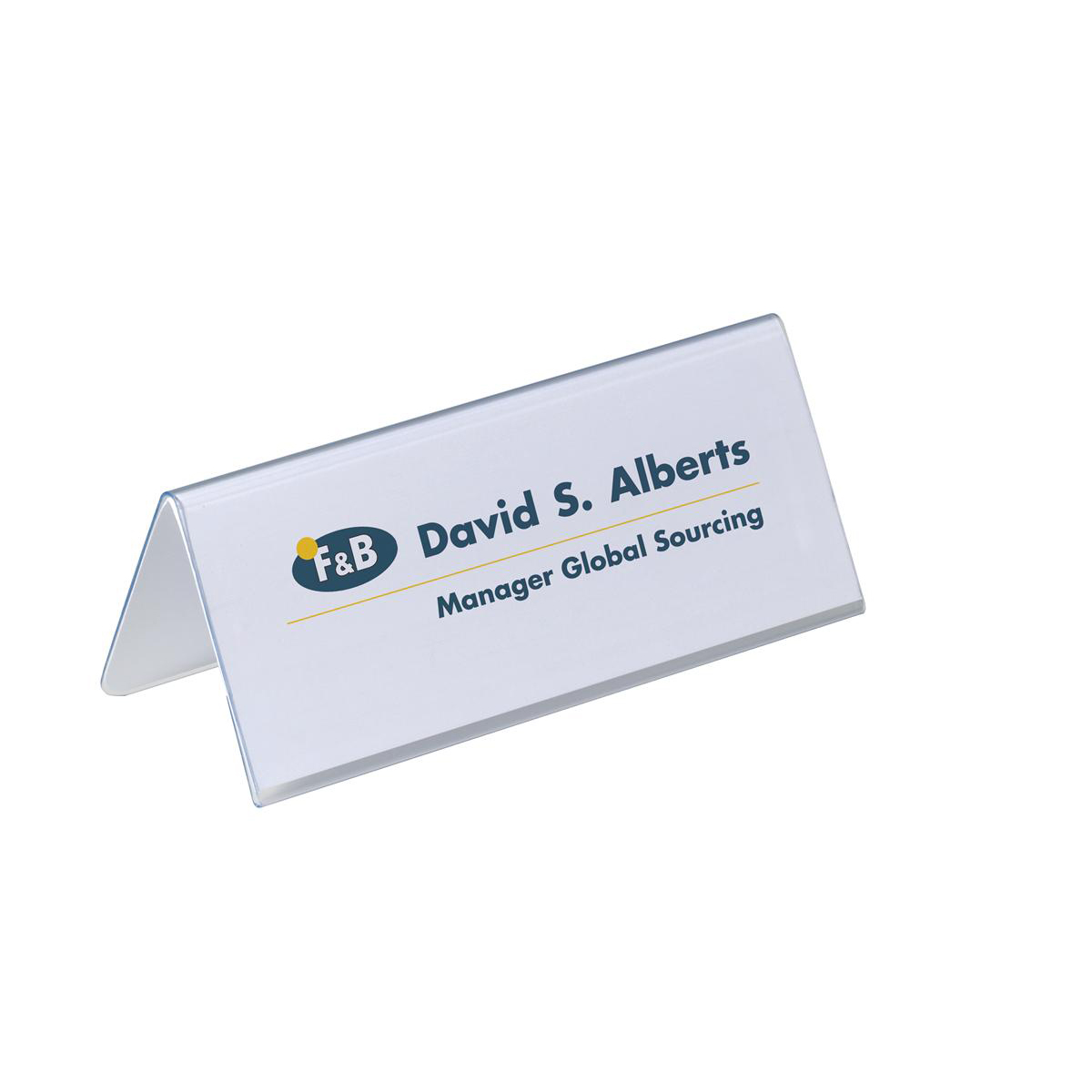 Durable Inserts for Duraprint Table Place Name Holder 63x150mm Ref 1459 Pack 40