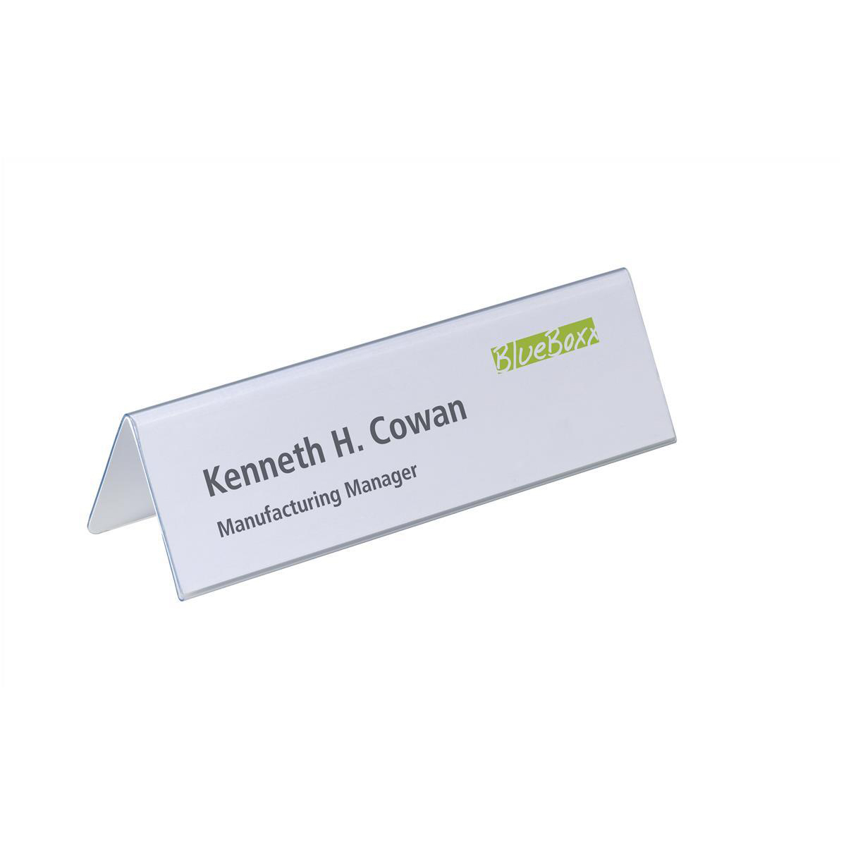 Badges or badge holders Durable Inserts for Duraprint Table Place Name Holder 61/122x210mm Ref 1460 Pack 20