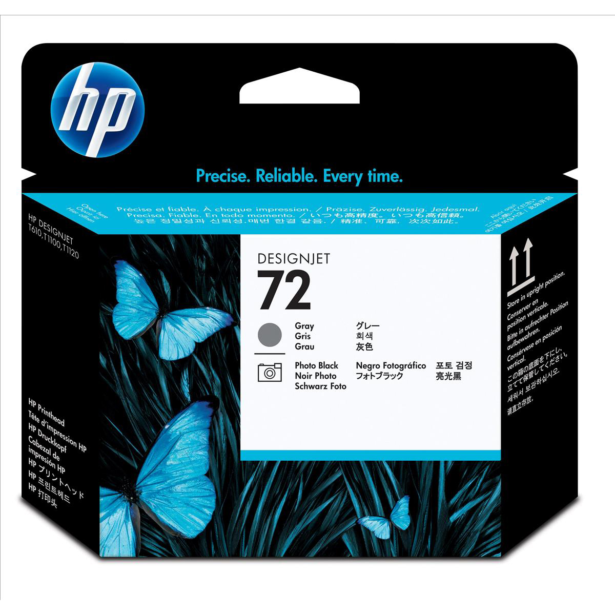 Hewlett Packard HP No.72 Inkjet Printhead Grey & Photo Black Ref C9380A