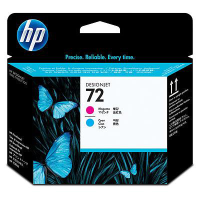 Hewlett Packard [HP] No.72 Inkjet Printhead Cyan & Magenta Ref C9383A