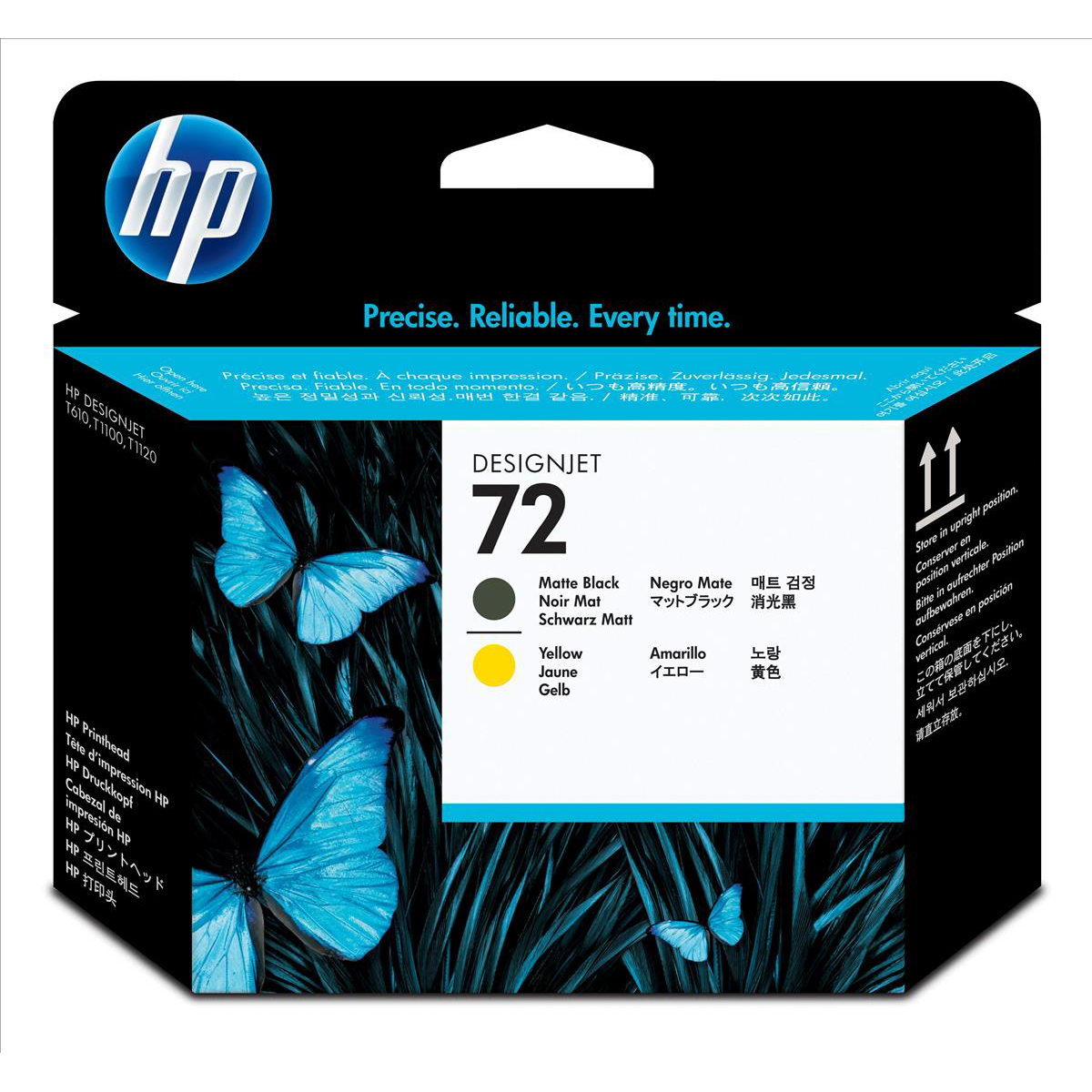 Hewlett Packard [HP] No. 72 Printhead Matt Black & Yellow Ref C9384A