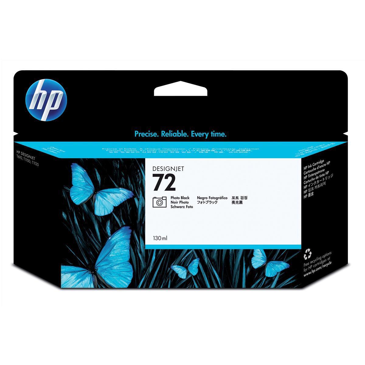 Hewlett Packard [HP] No.72 Inkjet Cartridge High Yield 130ml Photo Black Ref C9370A
