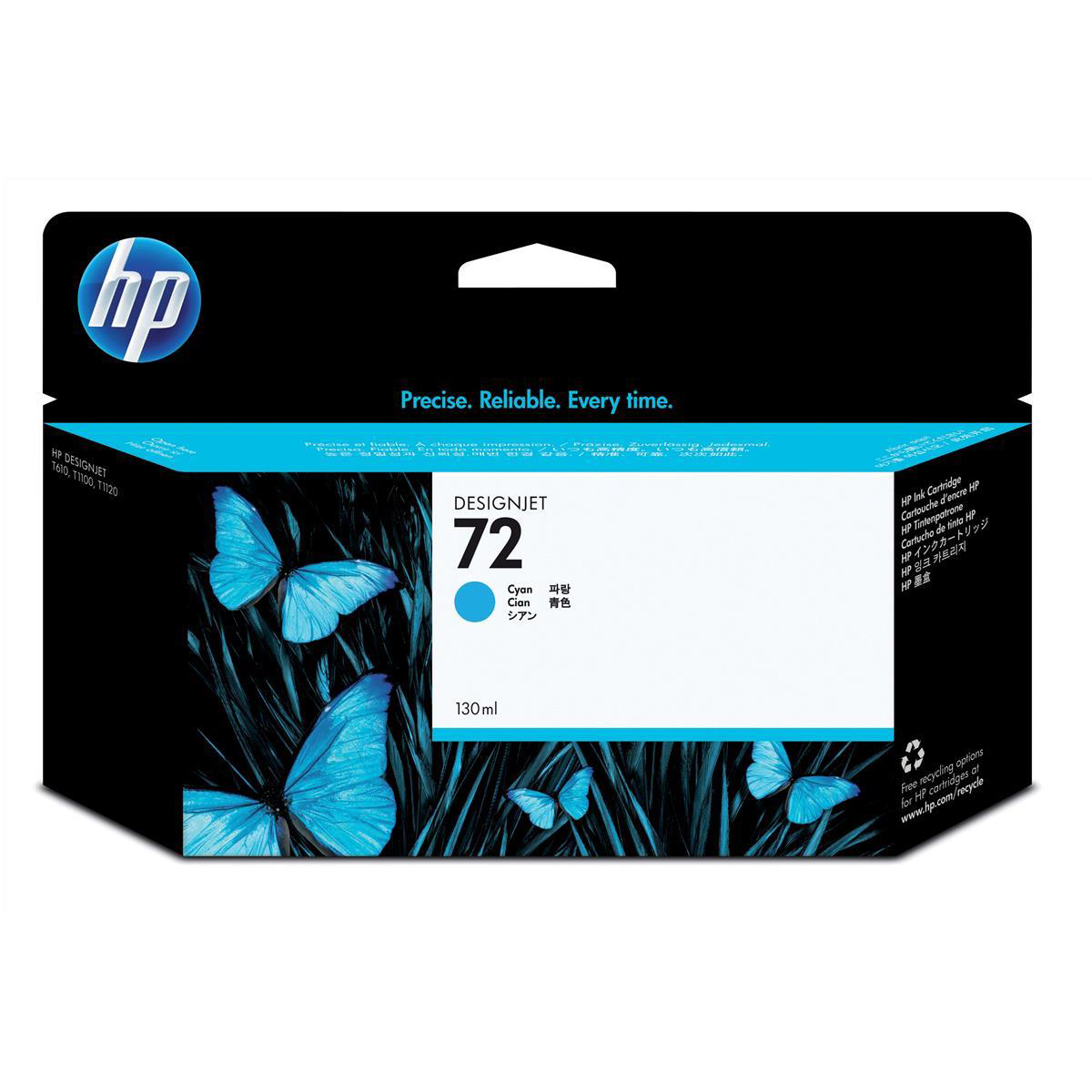 Hewlett Packard HP No.72 Inkjet Cartridge High Yield 130ml Cyan Ref C9371A