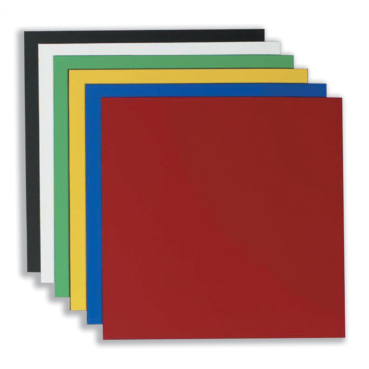 Nobo Magnetic Squares Vinyl 150x150mm Assorted Ref 1901104 [Pack 6]