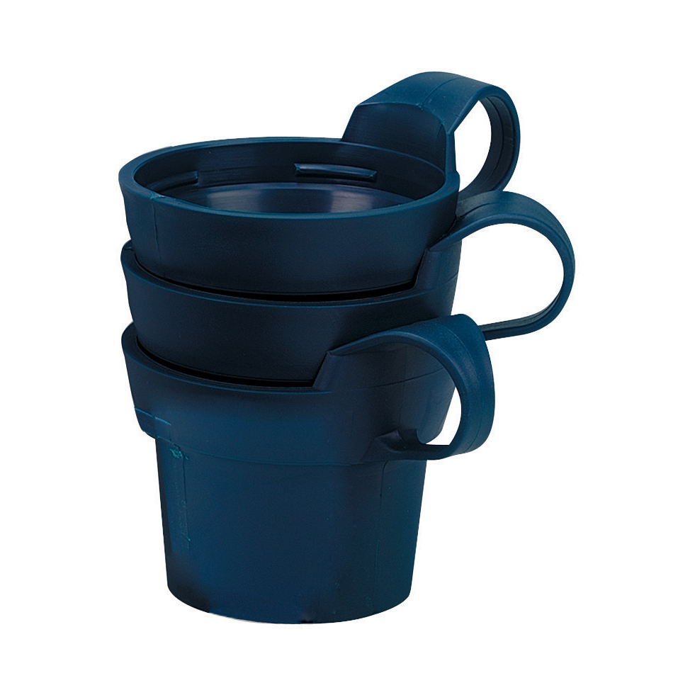 Acorn Cup Holders Insulating for Plastic Cups Navy Blue Ref 501777 Pack 10