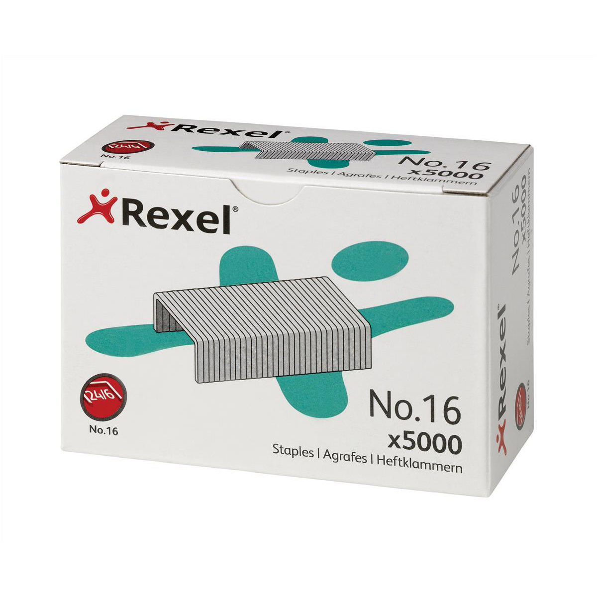 Rexel 16 Staples 6mm Ref 06010 Pack 5000