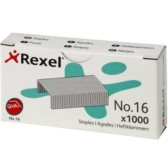 Rexel 16 Staples 6mm Ref 06121 Pack 1000