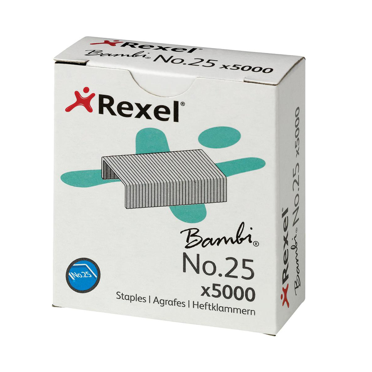 Rexel No. 25 Staples 4mm Ref 05025 Pack 5000